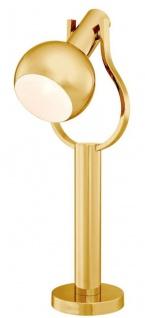 Casa Padrino Luxus Tischleuchte Gold Ø 18 x H. 60 cm - Schreibtischlampe mit schwenkbarem Kopf