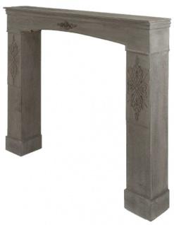 Casa Padrino Landhausstil Kaminumrandung Antik Graubraun 113 x 19 x H. 101 cm - Handgefertigte Shabby Chic Möbel - Vorschau 2