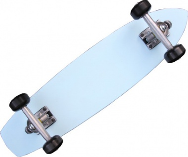 Oldschool Skateboard Cruiser 70s Style Skyblue Mit 125 Randal RII Trucks, 58mm Black Wheels - Longboard Cruiser - Vorschau 2