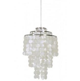 Casa Padrino Hängeleuchte Deckenleuchte Silber Durchmesser 45 x H 70 cm - Möbel Lüster Leuchter Deckenleuchte Deckenlampe