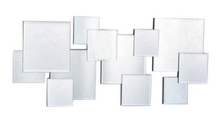 Casa Padrino Designer Spiegel / Wandspiegel Silber 100 x H. 45 cm - Luxus Möbel