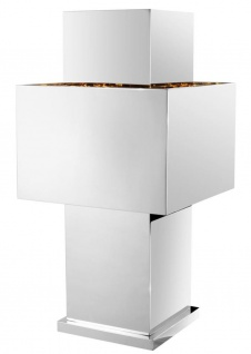 Casa Padrino Luxus Tischleuchte Silber 36, 5 x 36, 5 x H. 72 cm - Designer Tischlampe