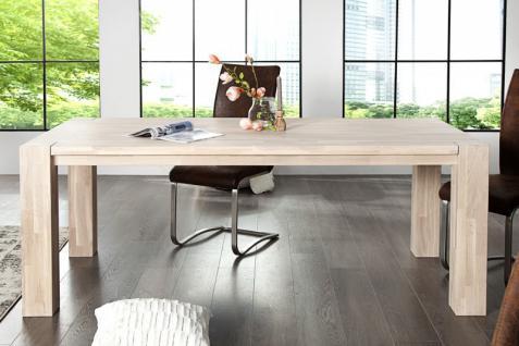 Casa Padrino Massivholz Esstisch Eiche 200 cm - Esszimmer Tisch Massiv