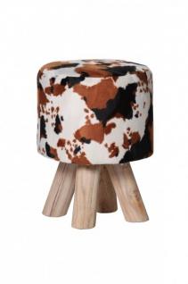 Designer Sitzhocker mit Kuhfleck-Optik Durchmesser 30 cm, Höhe 45 cm - Rundhocker