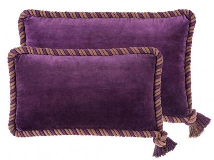 Casa Padrino Zierkissen 2er Set Lila - Luxus Wohnzimmer Accessoires