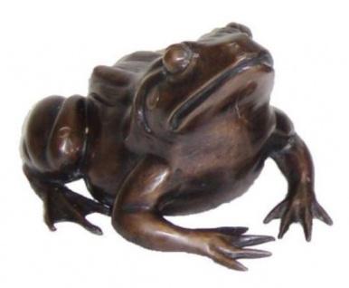 Casa Padrino Luxus Deko Bronze Frosch 24 x 30 x H. 16 cm - Luxus Bronzefigur