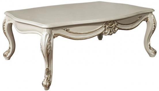 Casa Padrino Luxus Barock Wohnzimmer Set Blau / Creme / Gold - 2 Sofas & 2 Sessel & 1 Couchtisch - Prunkvolle Möbel im Barockstil - Vorschau 4