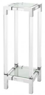 Casa Padrino Luxus Beistelltisch / Säule Silber 35 x 35 x H. 100 cm - Luxus Designer Möbel