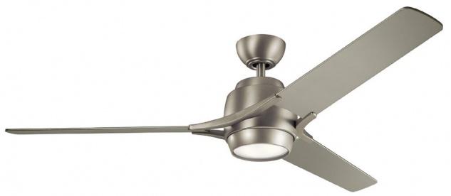 Casa Padrino Luxus Deckenventilator Matt Silber 152 x H. 46 cm - Moderner dimmbarer Ventilator mit LED Beleuchtung und Fernbedienung - Luxus Kollektion