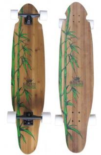 """Krown Longboard Komplettboard Skateboard Exotic Kicktail Bamboo Complete Longboard 43"""""""