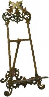 Casa Padrino Jugendstil Staffelei Antik Braun Rostoptik / Mehrfarbig H. 41 cm - Gusseisen Staffelei mit ausklappbarem Ständer