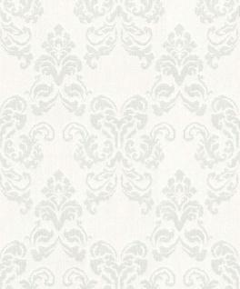 Casa Padrino Barock Textiltapete Creme / Grau 10, 05 x 0, 53 m - Deko Accessoires im Barockstil