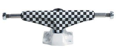 Grind King Skateboard Achsen Set 5.0 LOW KUSTOM Checkered weiß/schwarz (2 Achsen)