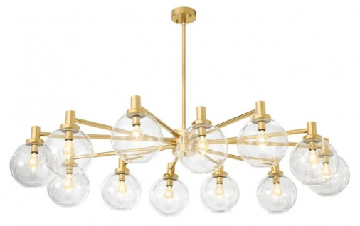 Casa Padrino Luxus Kronleuchter Gold 150 x 105 x H. 37 cm - Limited Edition