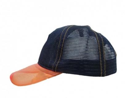 Mesh Trucker Cap Jeans Blue/Orange - Skateboard BMX Surf Cap