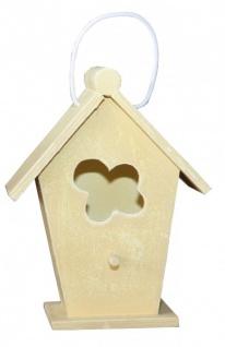 Casa Padrino Designer Vogelhaus Mini Gelb- Vogelpalast