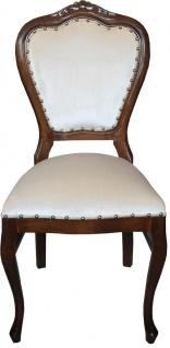 Casa Padrino Barock Luxus Damen Stuhl Braun / Creme - Damen Schminktisch Stuhl - Limited Edition