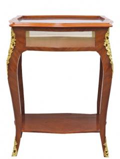 Casa Padrino Barock Beistelltisch Mahagoni Intarsien / Gold H78 x 62 cm - Ludwig XVI Antik Stil Tisch - Möbel - Vorschau 1