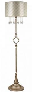 Casa Padrino Barock Kristall Stehleuchte Antik Gold / Beige Ø 43 x H. 165 cm - Stehlampe im Barockstil