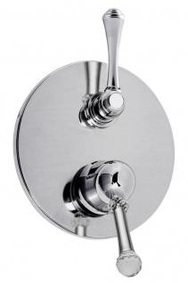 Luxus Dusch Unterputz-Einhebelmischer mit 3-Ausgängen & Umstellung Silber Ø 19 cm - Luxus Qualität Made in Italy