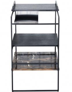 Casa Padrino Luxus Designer Beistelltisch Schwarz 45 x 45 x H. 80, 5 cm - Designer Möbel - Vorschau 2