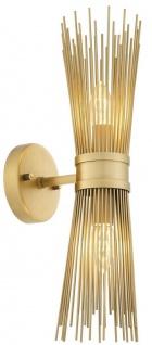 Casa Padrino Designer Wandleuchte Antik Messing 12 x 19 x H. 47 cm - Designer Lampe - Luxus Qualität