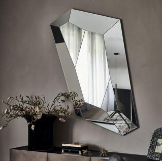Casa Padrino Luxus Spiegel 100 x 6 x H. 160 cm - Edler Wandspiegel mit verspiegeltem Rand - Luxus Möbel