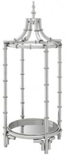 Casa Padrino Luxus Schirmständer Silber 31 x H. 69, 5 cm - Designer Accessoires