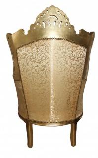 "Casa Padrino Barock Sessel "" Al Capone"" Gold Muster / Gold Möbel- Antik Stil - Vorschau 2"