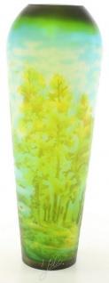 Casa Padrino Cameoglas Vase Eichenwald Mehrfarbig Ø 16, 2 x H. 44 cm - Luxus Deko Blumenvase - Vorschau 3