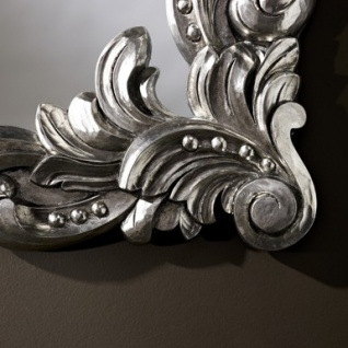 Casa Padrino Barock Wandspiegel Antik Stil Silber 92 x 110 cm - Barocker Spiegel - Vorschau 2