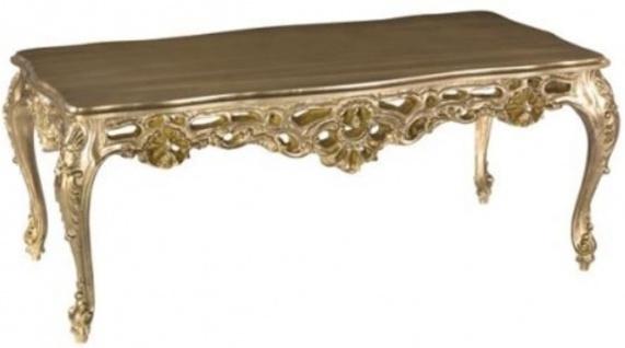 Casa Padrino Luxus Barock Couchtisch Bronze-Gold 109 x 57 x H. 44 cm - Prunkvoller Wohnzimmertisch - Barock Wohnzimmer Möbel - Luxus Qualität - Made in Italy