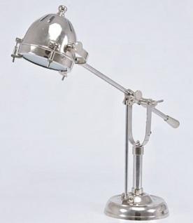 Casa Padrino Luxus Tischleuchte Silber 63 x 18 x H. 52 cm - Messing Schreibtischlampe