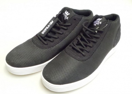 SUPRA Skateboard Schuhe Cuttler Low- Black Mesh / White