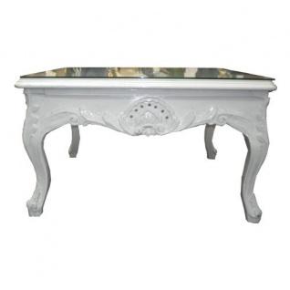 Casa Padrino Barock Beistelltisch Weiß 80 x 80 cm - Couchtisch - Wohnzimmer Tisch - Vorschau 2