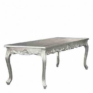 Casa Padrino Barock Esstisch Silber 180cm - Esszimmer Tisch