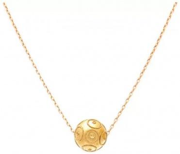 Casa Padrino Luxus Damen Halskette Gold - Handgefertigte 9 Karat Gold Kette - Edler Damenschmuck - Luxus Kollektion