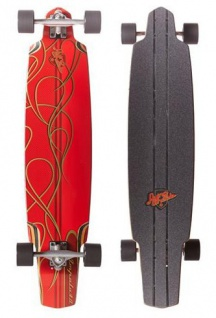 Flying Wheels Longboard Cruiser Impala 40 inch Red Komplettboard Carver - Special Edition mit Koston Kugellagern