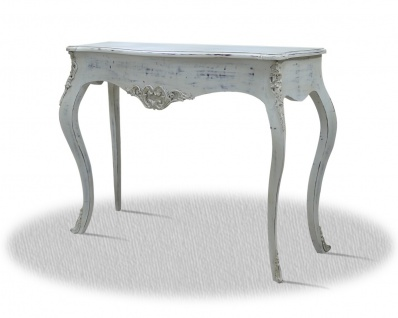 Casa Padrino Barock Konsole Vintage Weiß Silber 100 x 40 x H. 85 cm - Antik Stil Möbel - Vorschau 2