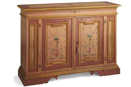 Casa Padrino Vintage Look Barock Sideboard Altrosa / Rose / Gold handbemalt 158 cm - Hotel Collection