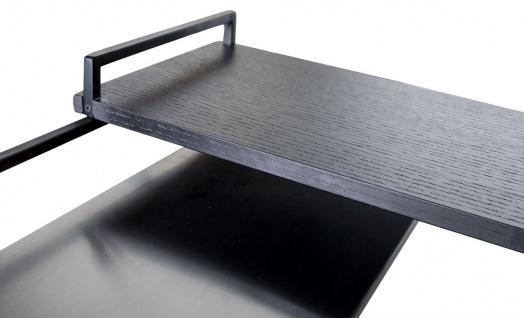 Casa Padrino Luxus Designer Beistelltisch Schwarz 45 x 45 x H. 80, 5 cm - Designer Möbel - Vorschau 5
