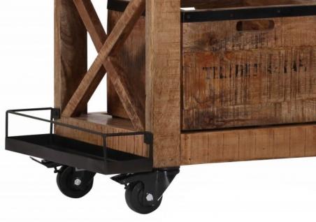 Casa Padrino Bar Trolley Servierwagen aus Mango Massivholz - Hotel & Restaurant Einrichtung Möbel - Vorschau 3