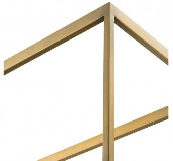 Casa Padrino Luxus Regalschrank Messing / Grau 95 x 40 x H. 225 cm - Edelstahl Schrank mit 5 Glasregalen - Büromöbel - Wohnzimmermöbel - Vorschau 3