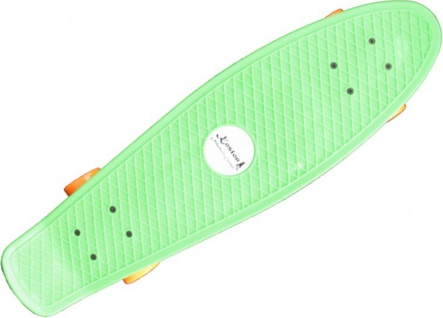 Koston Oldschool Skateboard Plastic Cruiser 70s Style Green/Orange Medium Size - 27.0 x 7.5 inch - Plastik Vinyl Skateboard