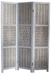 Casa Padrino Landhausstil Raumteiler Antik Weiß 40 x 2 x H. 170 cm - Landhausstil Möbel