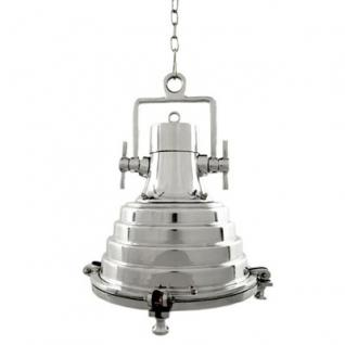 Casa Padrino Industrie Leuchte - Luxus Edelstahl Hängeleuchte vernickelt 39 x 42 cm