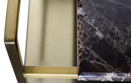 Casa Padrino Luxus Couchtisch Gold 60 x 60 x H. 36, 5 cm - Designer Wohnzimmertisch - Vorschau 4