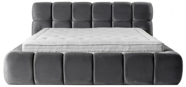Casa Padrino Luxus Doppelbett Grau - Verschiedene Größen - Modernes Bett mit Matratze - Schlafzimmer Möbel