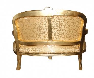 Casa Padrino Barock Kinder Sitzbank Gold Muster/Gold Antik Stil - Vorschau 2