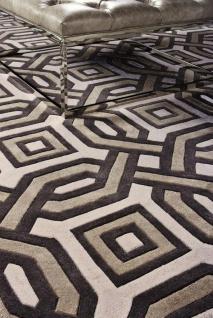 Casa Padrino Designer Teppich aus Neuseeland Wolle 200 x 300 cm - Luxus Wohnzimmer Teppich